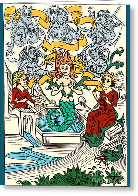 The Sacred Feminine Greeting Cards - Melusine Legendary Creature Greeting Card by Photo Researchers