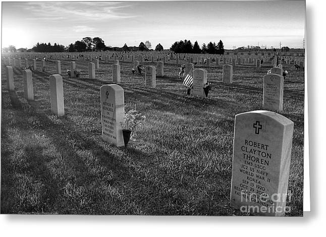 Usa Greeting Cards - Memorial Day Fort Snelling National Cemetery Greeting Card by Wayne Moran