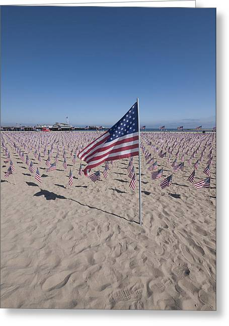 September 11th Attacks Greeting Cards - Memorial for 9-11 Santa Barbara CA  Greeting Card by David Litschel