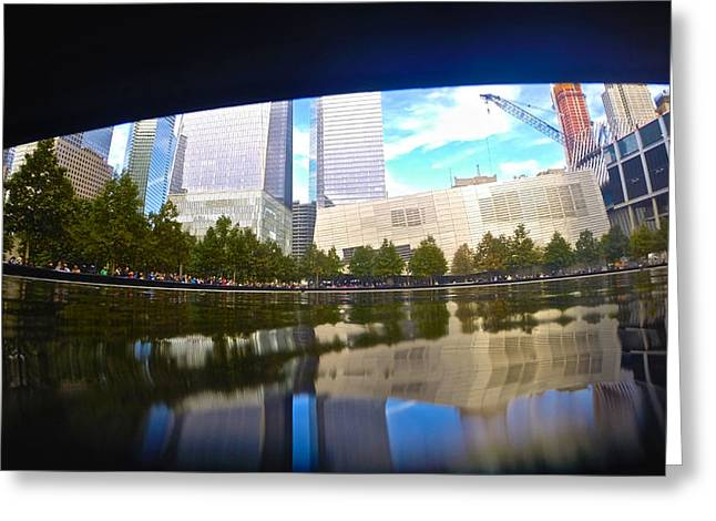 River View Greeting Cards - Memorial Reflections Greeting Card by Steven Lapkin