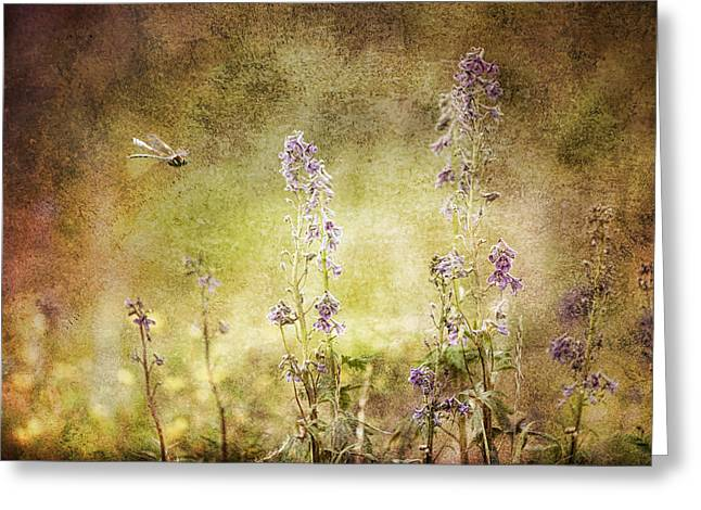 Golden Leopard Greeting Cards - Memories of Summer Greeting Card by Michele Cornelius