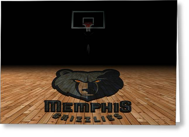 Recently Sold -  - Dunk Greeting Cards - Memphis Grizzlies Greeting Card by Joe Hamilton