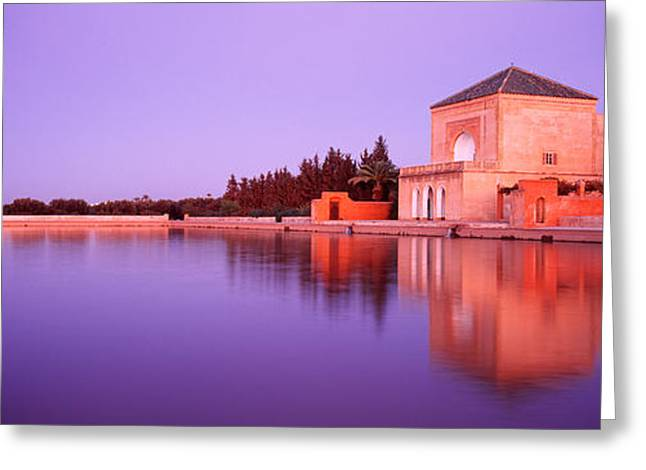 Africa-north Greeting Cards - Menara, Marrakech, Morocco Greeting Card by Panoramic Images