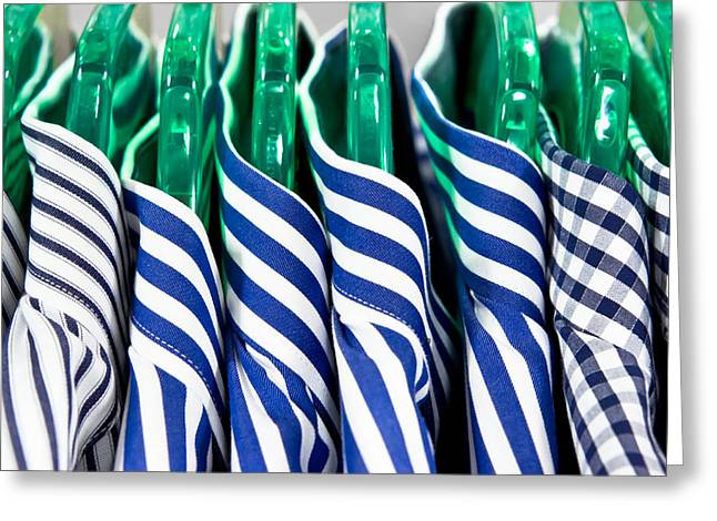 men's shirts Greeting Card by Tom Gowanlock