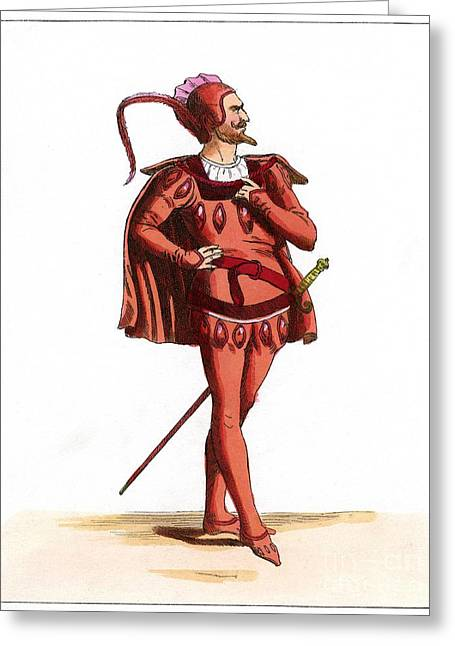 Character Portraits Greeting Cards - Mephistopheles, Artwork Greeting Card by Chris Hellier
