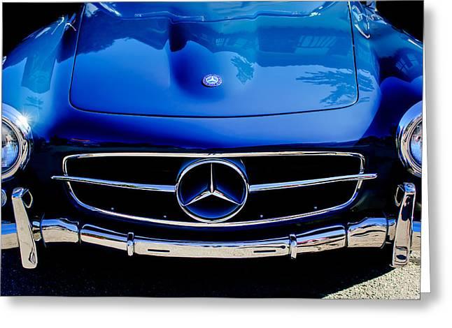 Mercedes Greeting Cards - Mercedes-Benz 190SL Grille Emblem Greeting Card by Jill Reger