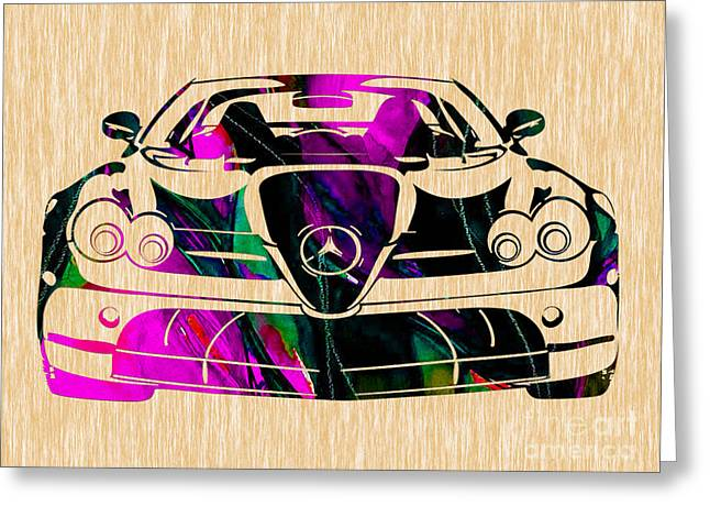 Mercedes Greeting Cards - Mercedes Benz Painting Greeting Card by Marvin Blaine