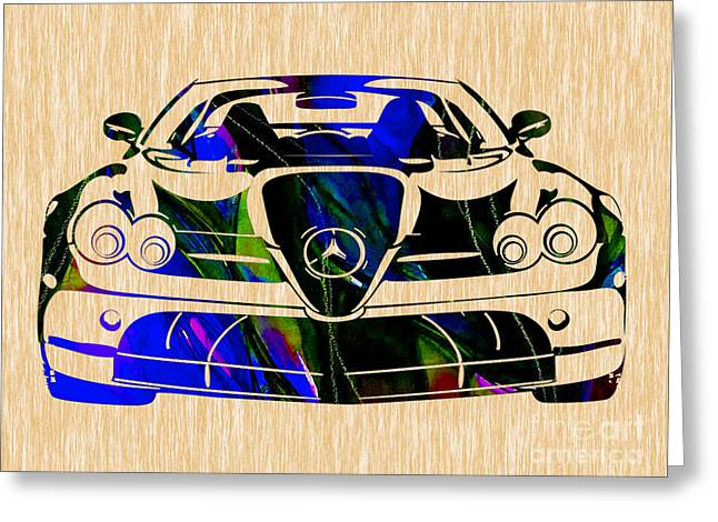 Mercedes Benz Greeting Cards - Mercedes Painting Greeting Card by Marvin Blaine