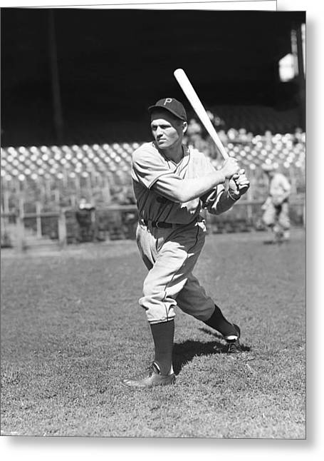 Baseball Bat Greeting Cards - Merrill G. Pinky May Greeting Card by Retro Images Archive