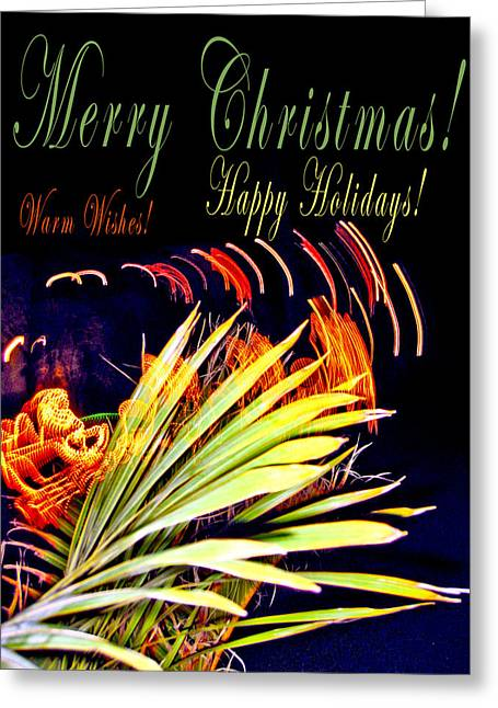 Merry Christmas Greeting Card by Andy Za