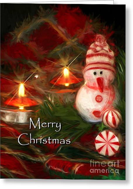 Twinkle Greeting Cards - Merry Christmas Greeting Card by Darren Fisher
