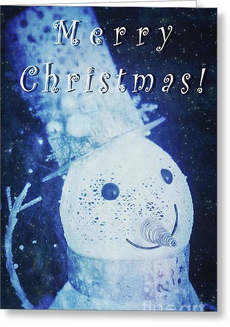 Art Mobile Greeting Cards - Merry Christmas Greeting Card by Elena Nosyreva