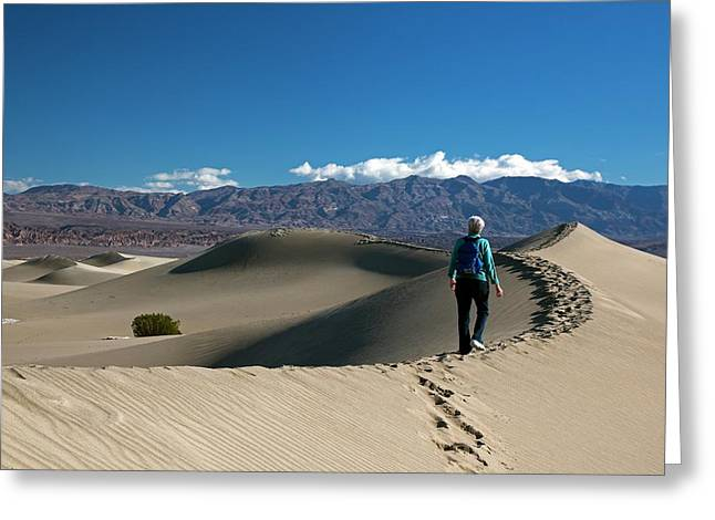 Mesquite Flat Sand Dunes Greeting Card by Jim West
