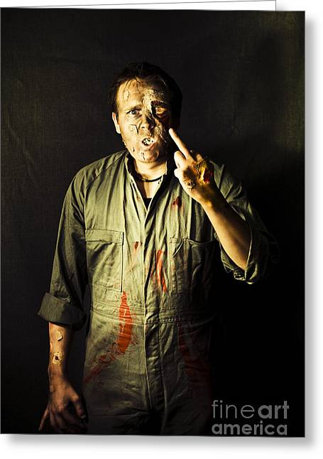 Living Dead Greeting Cards - Message From Beyond The Tomb Greeting Card by Ryan Jorgensen