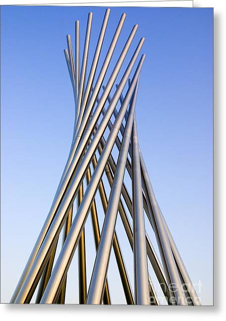 Installation Art Greeting Cards - Metal Sculpture At Fermilab Greeting Card by Mark Williamson