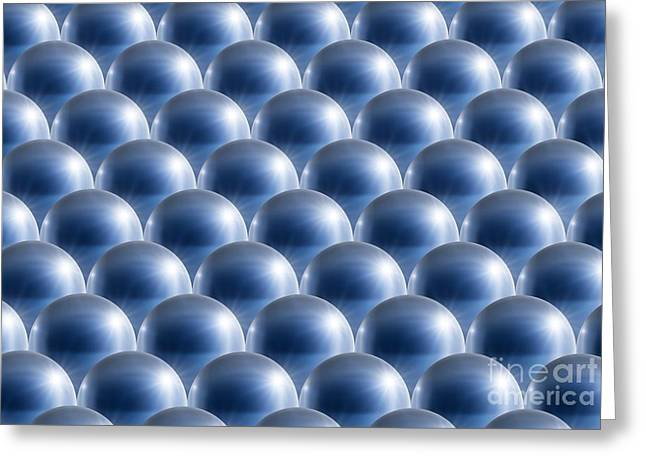 Multiple Identities Greeting Cards - Metal Spheres, Abstract Artwork Greeting Card by Detlev van Ravenswaay