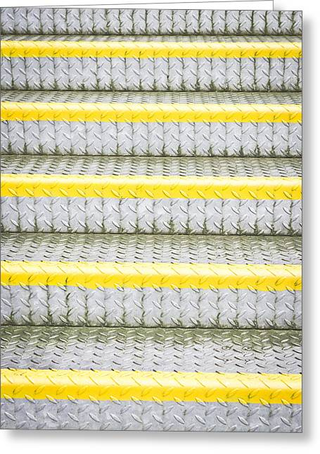 Staircase Greeting Cards - Metal steps Greeting Card by Tom Gowanlock