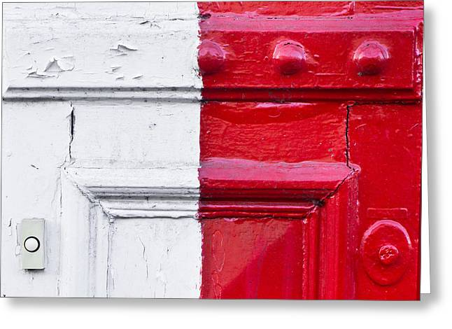 Doorbell Greeting Cards - Metal texture Greeting Card by Tom Gowanlock
