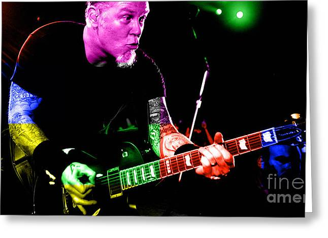 Metallica Mixed Media Greeting Cards - Metallica Greeting Card by Marvin Blaine