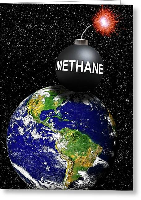 Methane Bomb Greeting Card by Victor De Schwanberg