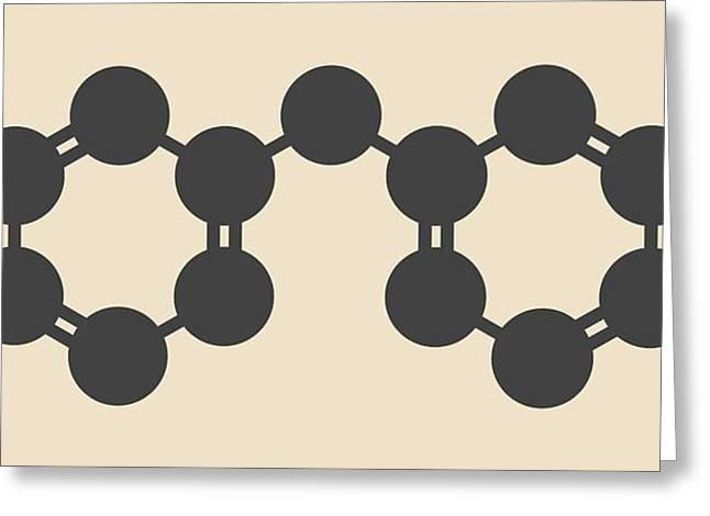 Methylenedianiline Molecule Greeting Card by Molekuul