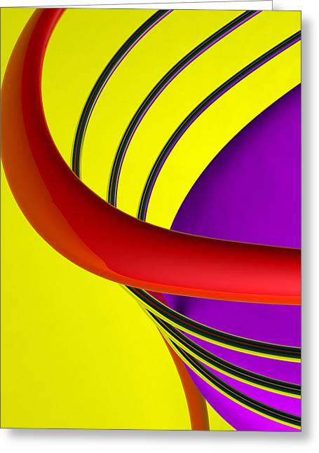 Geometric Digital Art Greeting Cards - Metro Greeting Card by Richard Rizzo