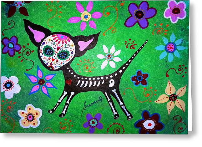 Bestfriend Greeting Cards - Mexican Chihuahua El Perrito Greeting Card by Pristine Cartera Turkus