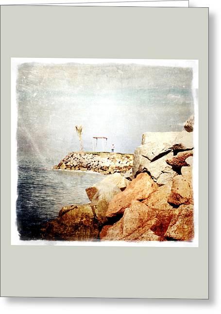 Puerto Vallarta Digital Greeting Cards - Mexican Seashore Greeting Card by Natasha Marco