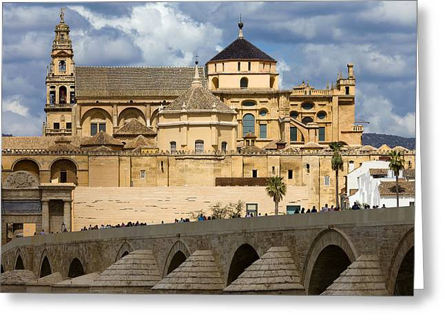 Medieval Temple Greeting Cards - Mezquita Cathedral in Cordoba Greeting Card by Artur Bogacki