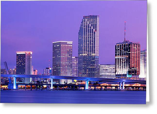Biscayne Bay Greeting Cards - Miami Fl Greeting Card by Panoramic Images