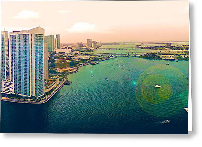 4th July Photographs Greeting Cards - 1 Miami Greeting Card by Michael Guirguis
