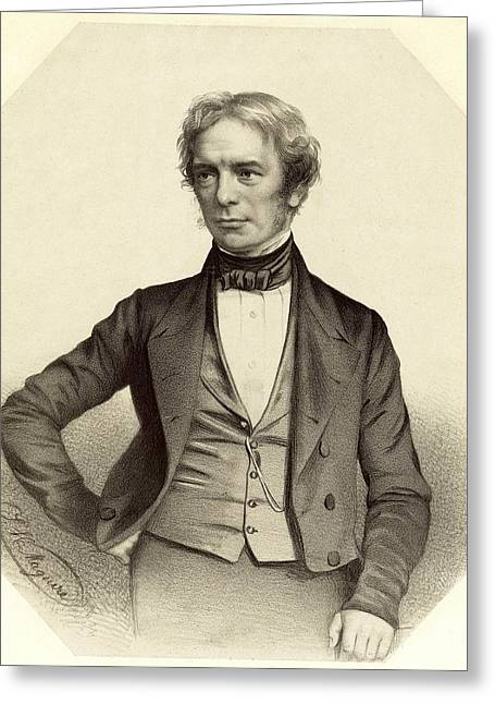 Michael Faraday, British Physicist Greeting Card by Science Photo Library