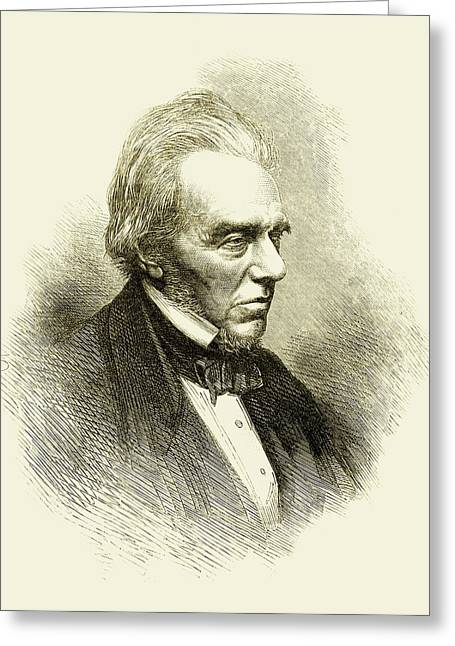 Michael Faraday Greeting Card by Maria Platt-evans