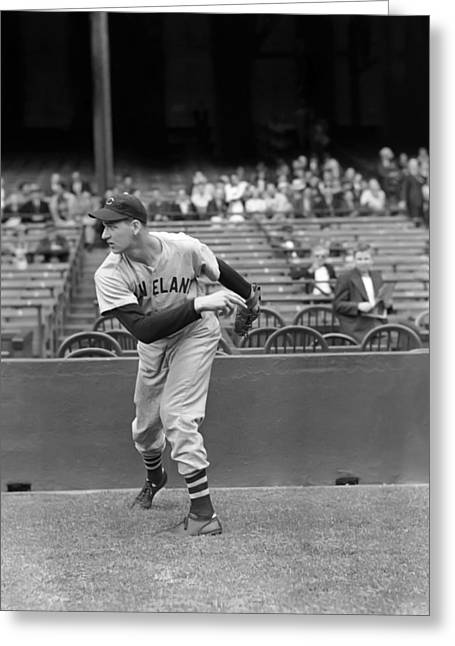 Cleveland Indians Greeting Cards - Michael J. Mike Naymick Greeting Card by Retro Images Archive