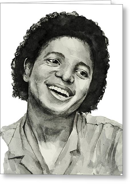 Billie Jean Greeting Cards - Michael Jackson 7 Greeting Card by MB Art factory
