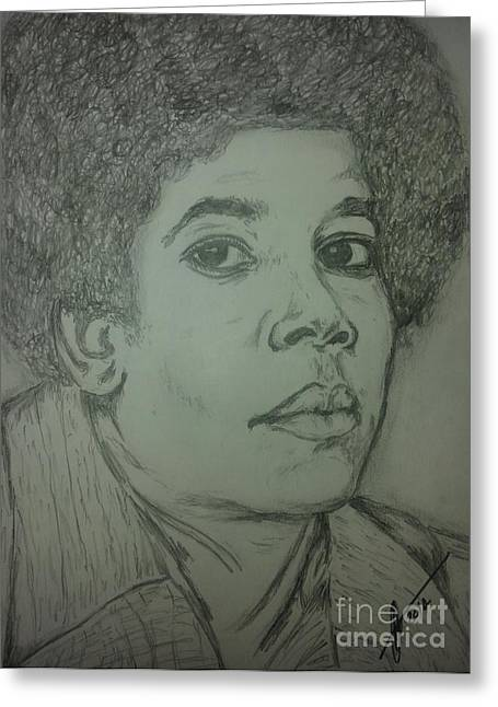 Michael Jackson Sketch Greeting Cards - Michael Jackson art Greeting Card by Collin A Clarke