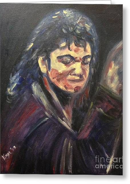 'michael Jackson' Greeting Card by Keya Majmundar