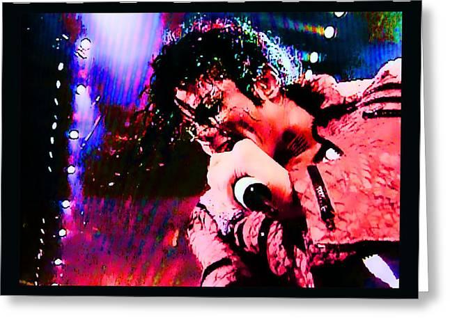 Award Digital Art Greeting Cards - Michael Jackson Greeting Card by RJ Aguilar