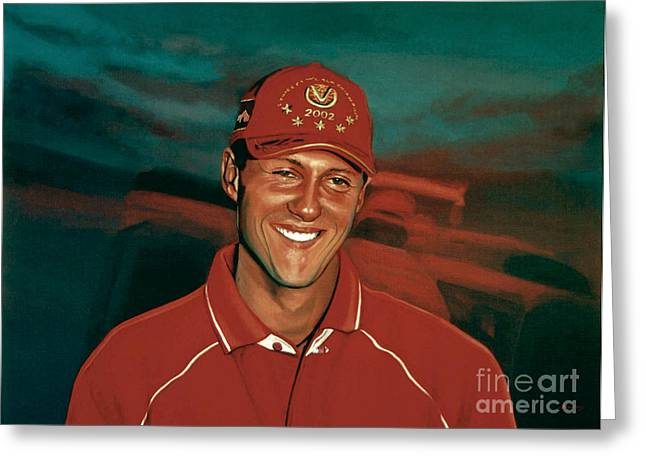 Position Greeting Cards - Michael Schumacher Greeting Card by Paul Meijering