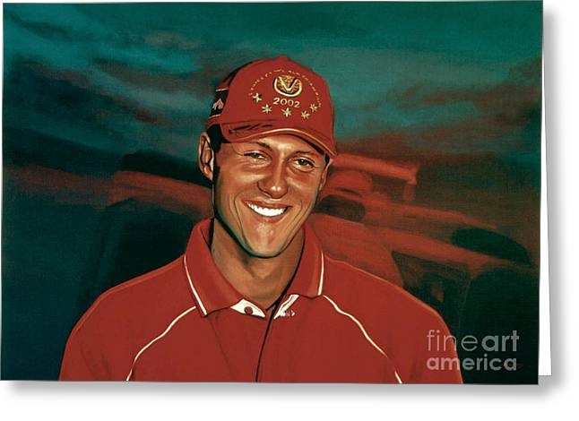 Michael Schumacher Greeting Card by Paul Meijering