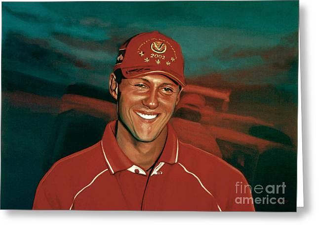 Jordan Greeting Cards - Michael Schumacher Greeting Card by Paul Meijering