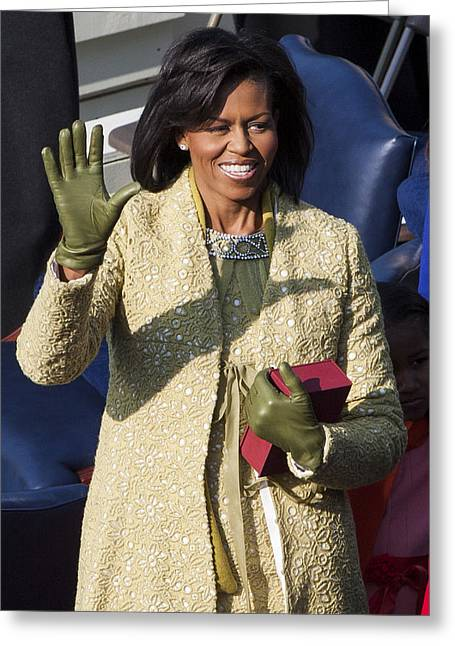 Michelle Obama Photographs Greeting Cards - Michelle Obama Greeting Card by JP Tripp