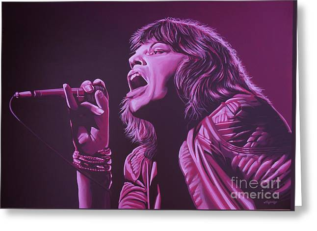 Main Street Greeting Cards - Mick Jagger Greeting Card by Paul  Meijering