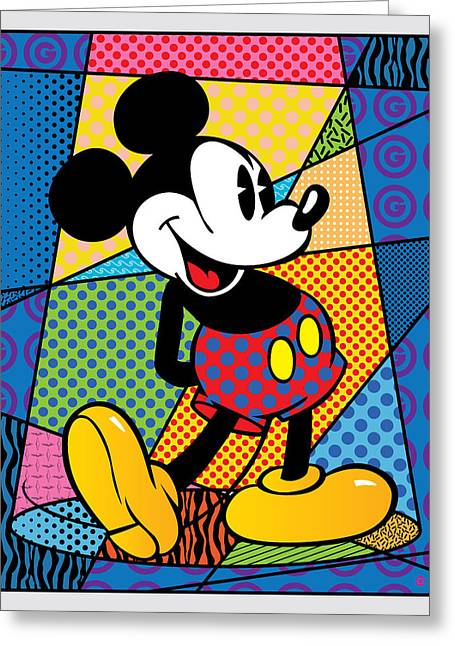Decorative Greeting Cards - Mickey Spotlight Greeting Card by Gary Grayson