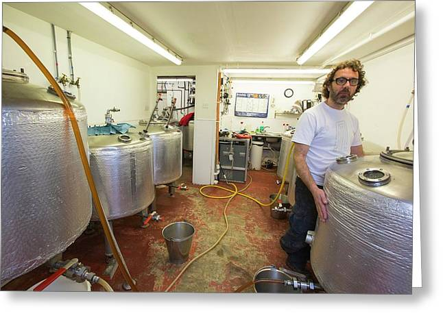 Micro Brewery Greeting Card by Ashley Cooper