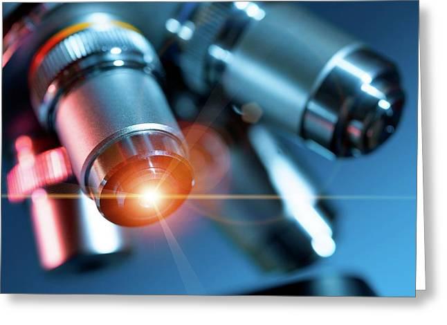 Microscope Greeting Card by Wladimir Bulgar
