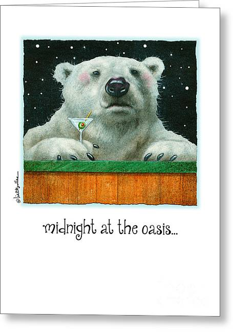 Happy Hour Greeting Cards - Midnight At The Oasis... Greeting Card by Will Bullas