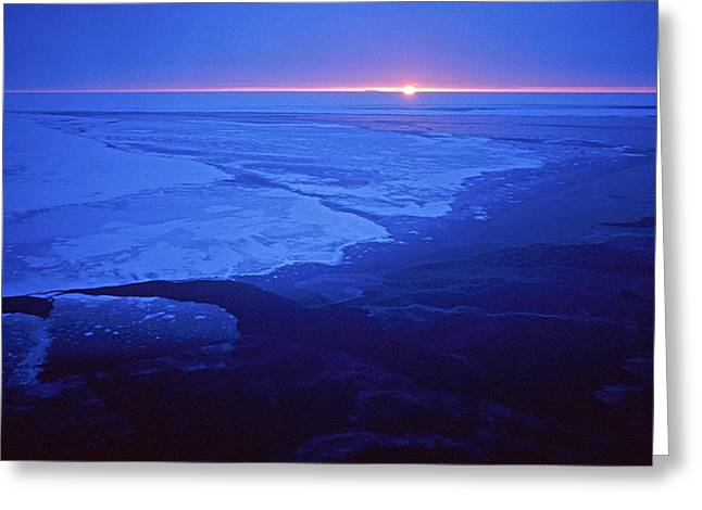 Antarctic Ocean Greeting Cards - Midnight Sun, Antarctica Greeting Card by Science Photo Library