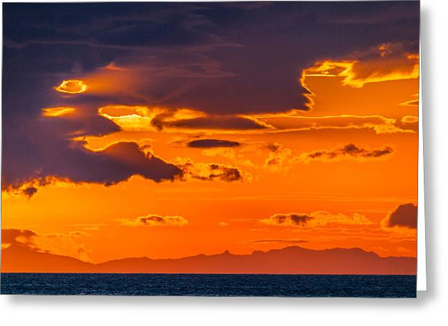 Solstice Greeting Cards - Midnight Sunset, Snaefellsnes Peninsula Greeting Card by Panoramic Images