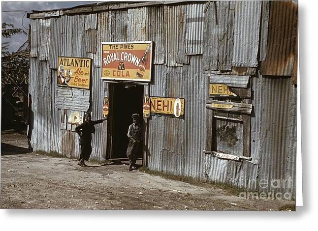 Juke Joint Greeting Cards - Migrant Workers, 1941 Greeting Card by Granger